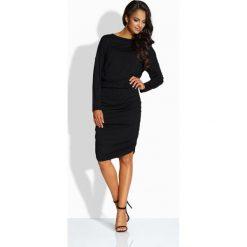 Sukienki: Elegancka dopasowana sukienka czarna