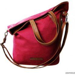 Torba bordowy zamsz. Czerwone torebki klasyczne damskie marki Pakamera, ze skóry. Za 104,00 zł.
