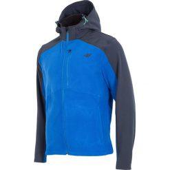 Męska bluza 4F Softshell Blue. Czerwone bluzy męskie rozpinane marki Astratex, w koronkowe wzory, z wiskozy. Za 183,39 zł.