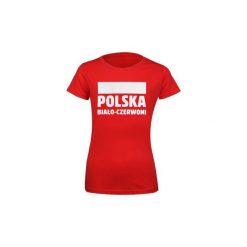 T-shirty damskie: T-shirt damski Polska Biało-Czerwoni S337896 rozm. S czerwony