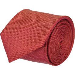Krawaty męskie: krawat platinum pomarańczowy classic 200