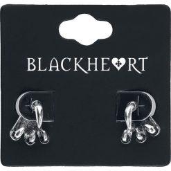 Blackheart Claw Kolczyki - Earpin srebrny. Szare kolczyki damskie Blackheart, srebrne. Za 32,90 zł.