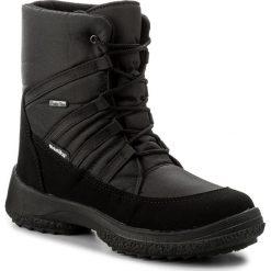 Buty zimowe damskie: Śniegowce MANITU – 990669 Schwarz 1