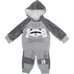 Spodnie niemowlęce: 2-częściowy zestaw w kolorze szarym