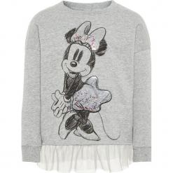 """Bluza """"Minnie"""" w kolorze szarym. Szare bluzy dziewczęce rozpinane marki Name it Mini & Kids, z nadrukiem, z dzianiny. W wyprzedaży za 59,95 zł."""