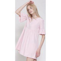 Sukienki hiszpanki: Różowa Sukienka My Heart