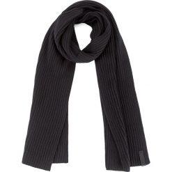 Szal CALVIN KLEIN - Octave Scarf K50K503622 001. Czarne szaliki damskie Calvin Klein, z bawełny. W wyprzedaży za 189,00 zł.