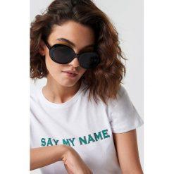 Emilie Briting x NA-KD Owalne okulary przeciwsłoneczne - Black. Szare okulary przeciwsłoneczne damskie lenonki marki ORAO. Za 80,95 zł.