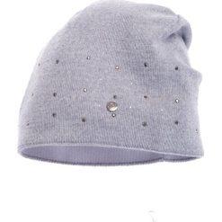 Czapki damskie: Szara czapka z ozdobami QUIOSQUE