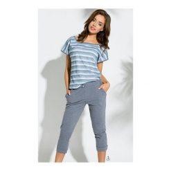 Piżama Pola 2172 SS/18 K1 Jeansowy melanż. Białe piżamy damskie marki MAT. Za 88,90 zł.