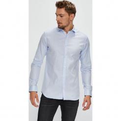 Premium by Jack&Jones - Koszula. Czarne koszule męskie na spinki marki Premium by Jack&Jones, l, z bawełny, z włoskim kołnierzykiem, z długim rękawem. Za 219,90 zł.