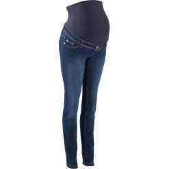 """Dżinsy ciążowe SKINNY bonprix ciemnoniebieski """"stone"""". Niebieskie rurki damskie bonprix, w paski, z jeansu. Za 119,99 zł."""
