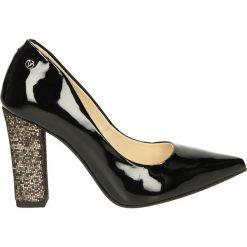 Czółenka - 511-15-429 NE. Czarne buty ślubne damskie Venezia, ze skóry. Za 199,00 zł.