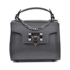 Torebka w kolorze czarnym - (S)17 x (W)16 x (G)6,5 cm. Czarne torebki klasyczne damskie Bestsellers bags, w paski, z materiału. W wyprzedaży za 219,95 zł.