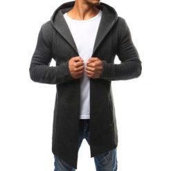 Bluzy męskie: Bluza męska narzutka z kapturem antracytowa (bx2349)