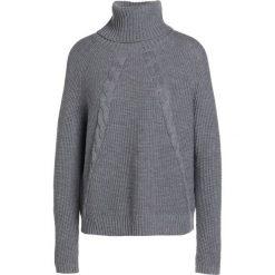 Swetry klasyczne damskie: Repeat Sweter medium grey