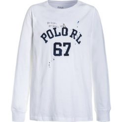 Polo Ralph Lauren GRAPHIC  Bluzka z długim rękawem white. Niebieskie bluzki dziewczęce bawełniane marki Adidas, z kontrastowym kołnierzykiem, z krótkim rękawem. Za 149,00 zł.