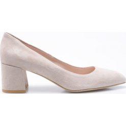 Gino Rossi - Czółenka Hiromi. Szare buty ślubne damskie marki Gino Rossi, z materiału, na szpilce. W wyprzedaży za 179,90 zł.