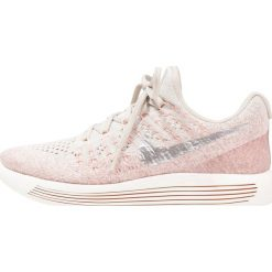 Buty do biegania damskie: Nike Performance LUNAREPIC LOW FLYKNIT 2 Obuwie do biegania treningowe pale grey/metallic silver/sunset glow/taupe grey/sail