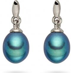 Kolczyki-wkrętki z perłami muszlowymi. Niebieskie kolczyki damskie Pearls Special, z perłą, z mosiądzu. W wyprzedaży za 68,95 zł.
