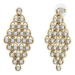 Kolczyki damskie: Pozłacane kolczyki-wkrętki z kryształkami