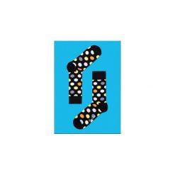 """Skarpety Happy Socks """"Big Dot"""" (BD01-099). Niebieskie skarpetki męskie Happy Socks, z bawełny. Za 29,99 zł."""