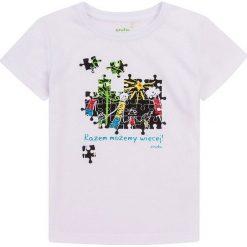 Endo - T-shirt dziecięcy 134-164 cm. Szare t-shirty chłopięce z nadrukiem marki Endo, z bawełny, z okrągłym kołnierzem. W wyprzedaży za 34,90 zł.