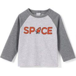 Odzież chłopięca: T-shirt z długim rękawem, dwukolorowy, 1 mies. -3 lata