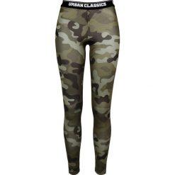 Spodnie damskie: Urban Classics Ladies Camo Logo Leggings Legginsy kamuflaż Woodland