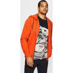 Bejsbolówki męskie: Bluza z kontrastowymi detalami - Pomarańczowy