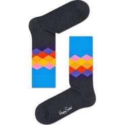 Happy Socks - Skarpety Faded Diamond. Czarne skarpetki męskie Happy Socks, z bawełny. W wyprzedaży za 27,90 zł.