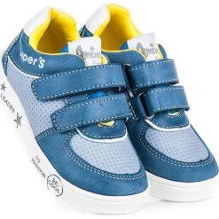 Buciki niemowlęce: American Club Buty dziecięce na rzepy REMINGTON niebieskie r. 24 (74353)