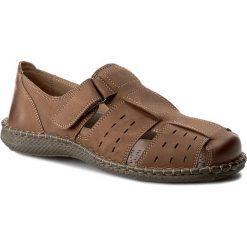 Sandały CESARE CAVE - MI07-C312-350-01 Brązowy. Brązowe sandały męskie skórzane Cesare Cave. Za 159,99 zł.