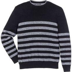 Swetry klasyczne męskie: Sweter w paski Regular Fit bonprix czarny w paski