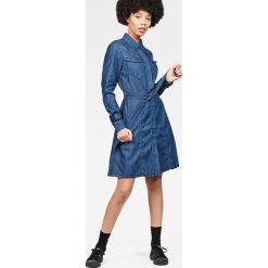 G-Star Raw - Sukienka. Szare sukienki mini marki G-Star RAW, na co dzień, s, z bawełny, casualowe, proste. W wyprzedaży za 599,90 zł.