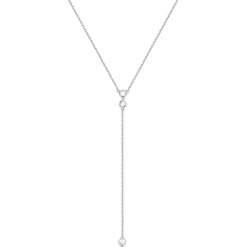 Srebrny naszyjnik - (D)41 cm. Żółte naszyjniki damskie marki METROPOLITAN, pozłacane. W wyprzedaży za 109,95 zł.