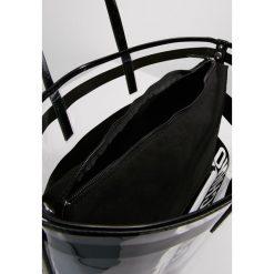 Shopper bag damskie: Love Moschino TRANSPARENT LOGO BEACH BAG Torebka nero