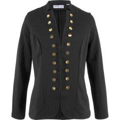 Żakiet dresowy, długi rękaw, z kolekcji Maite Kelly bonprix czarny. Brązowe marynarki i żakiety damskie marki bonprix. Za 99,99 zł.