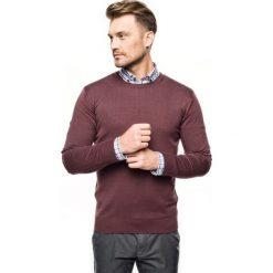 Sweter nagel półgolf fiolet. Brązowe swetry klasyczne męskie Recman, m, z golfem. Za 169,00 zł.