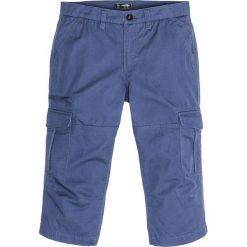 Spodnie bojówki 3/4 Loose Fit bonprix indygo. Niebieskie bojówki męskie bonprix. Za 99,99 zł.