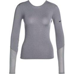 Nike Performance DRY WRAP Koszulka sportowa gunsmoke/heather/black. Szare t-shirty damskie Nike Performance, xl, z elastanu, z długim rękawem. Za 179,00 zł.