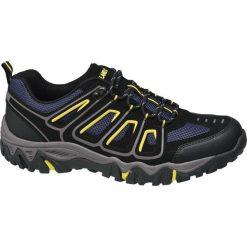 Trekkingowe buty męskie Highland Creek czarne. Czarne buty trekkingowe męskie Highland Creek, z materiału, na sznurówki. Za 83,00 zł.