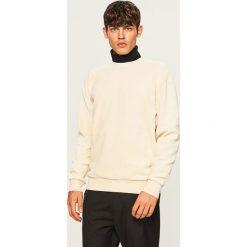 Bluza z prążkowanego weluru - Kremowy. Białe bluzy męskie rozpinane marki Adidas, l. Za 119,99 zł.