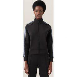 Bluzy damskie: Bluza z folkowym lampasem redesign - Czarny
