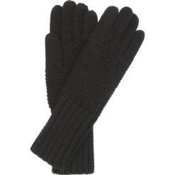 Rękawiczki damskie. Czarne rękawiczki damskie Ochnik, w ażurowe wzory, z dzianiny. Za 69,90 zł.