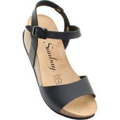 """Rzymianki damskie: Sandały """"Yucca"""" w kolorze czarnym"""