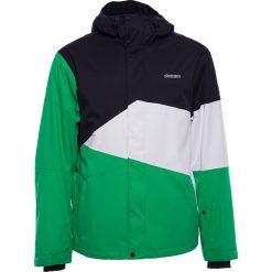 """Kurtka narciarska """"Inventorz"""" w kolorze czarno-biało-zielonym. Białe kurtki męskie przeciwdeszczowe marki Zimtstern, m, z materiału. W wyprzedaży za 646,95 zł."""