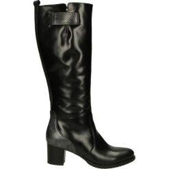 Buty zimowe damskie: Kozaki ocieplane - Z830 NERO-GRI
