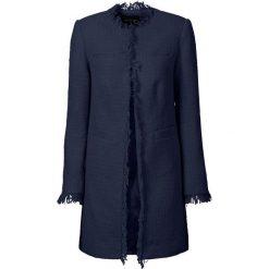 Płaszcz boucle bonprix ciemnoniebieski. Niebieskie płaszcze damskie bonprix, z haftami. Za 189,99 zł.
