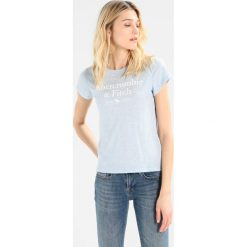 T-shirty damskie: Abercrombie & Fitch MOOSE LOGO TEE Tshirt z nadrukiem light blue